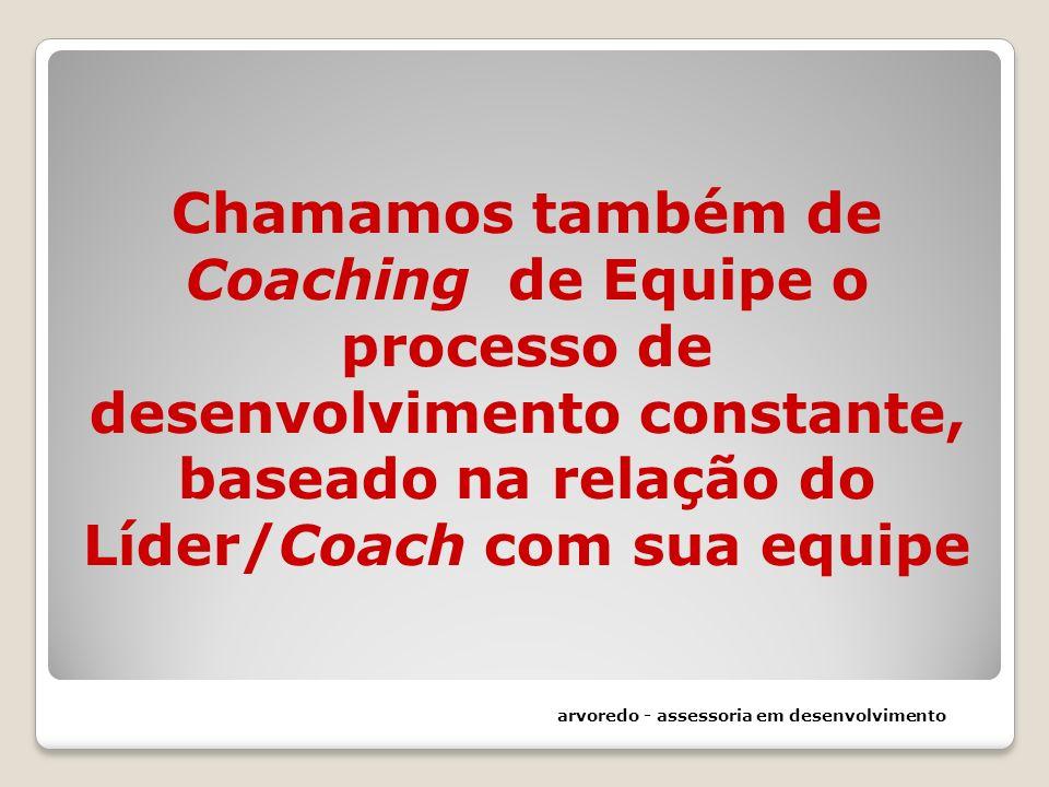 Chamamos também de Coaching de Equipe o processo de desenvolvimento constante, baseado na relação do Líder/Coach com sua equipe