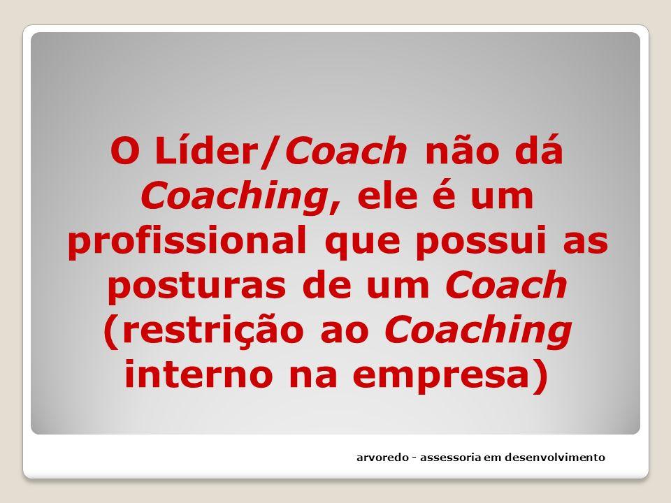 O Líder/Coach não dá Coaching, ele é um profissional que possui as posturas de um Coach (restrição ao Coaching interno na empresa)