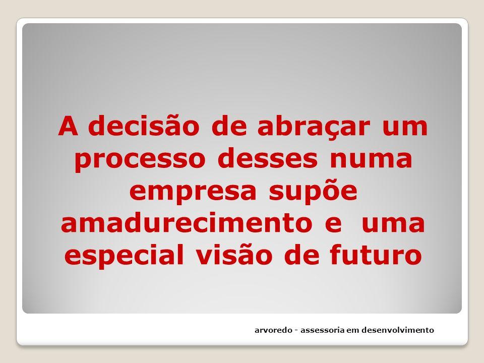 A decisão de abraçar um processo desses numa empresa supõe amadurecimento e uma especial visão de futuro