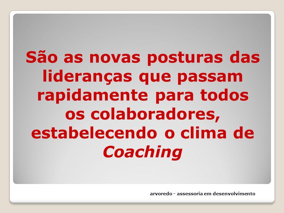 São as novas posturas das lideranças que passam rapidamente para todos os colaboradores, estabelecendo o clima de Coaching