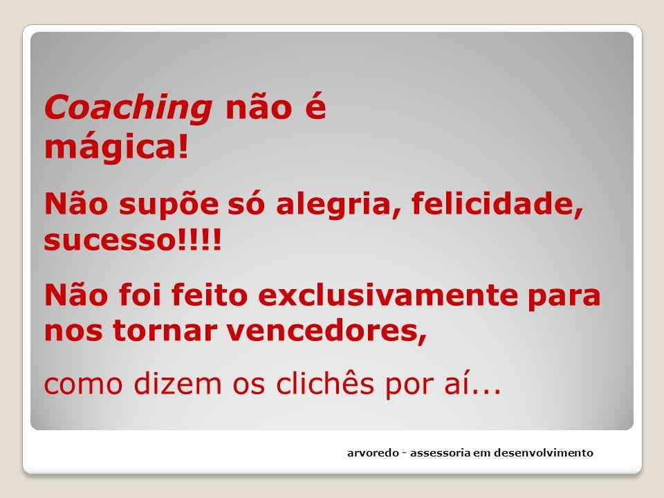 Coaching não é mágica. Não supõe só alegria, felicidade, sucesso