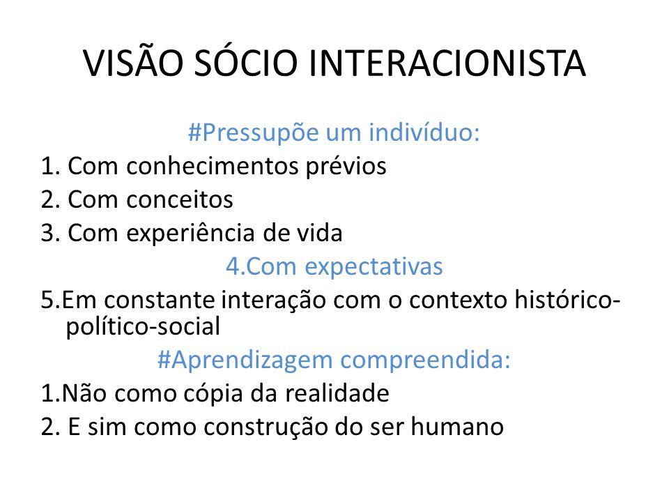 VISÃO SÓCIO INTERACIONISTA