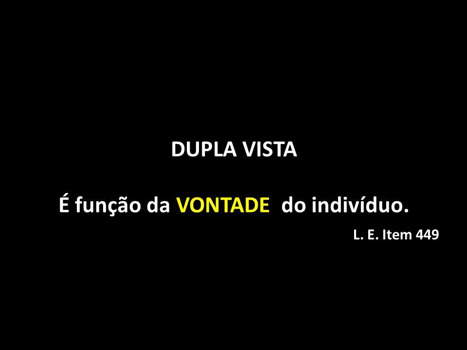DUPLA VISTA É função da VONTADE do indivíduo.