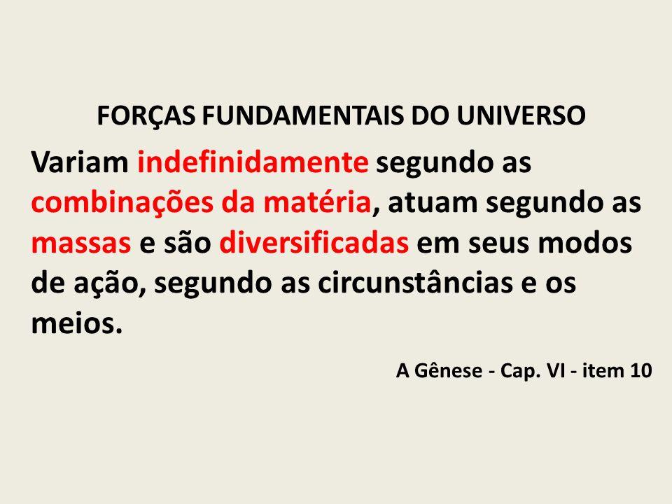 FORÇAS FUNDAMENTAIS DO UNIVERSO