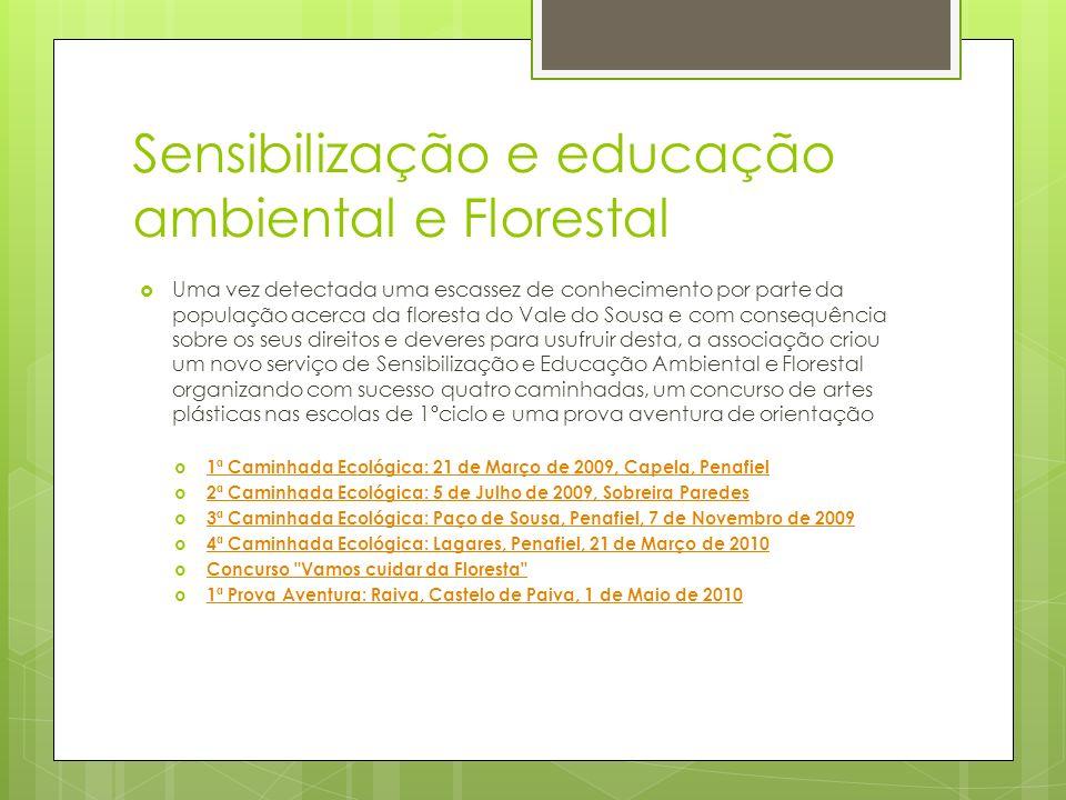 Sensibilização e educação ambiental e Florestal