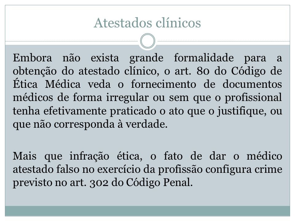 Atestados clínicos