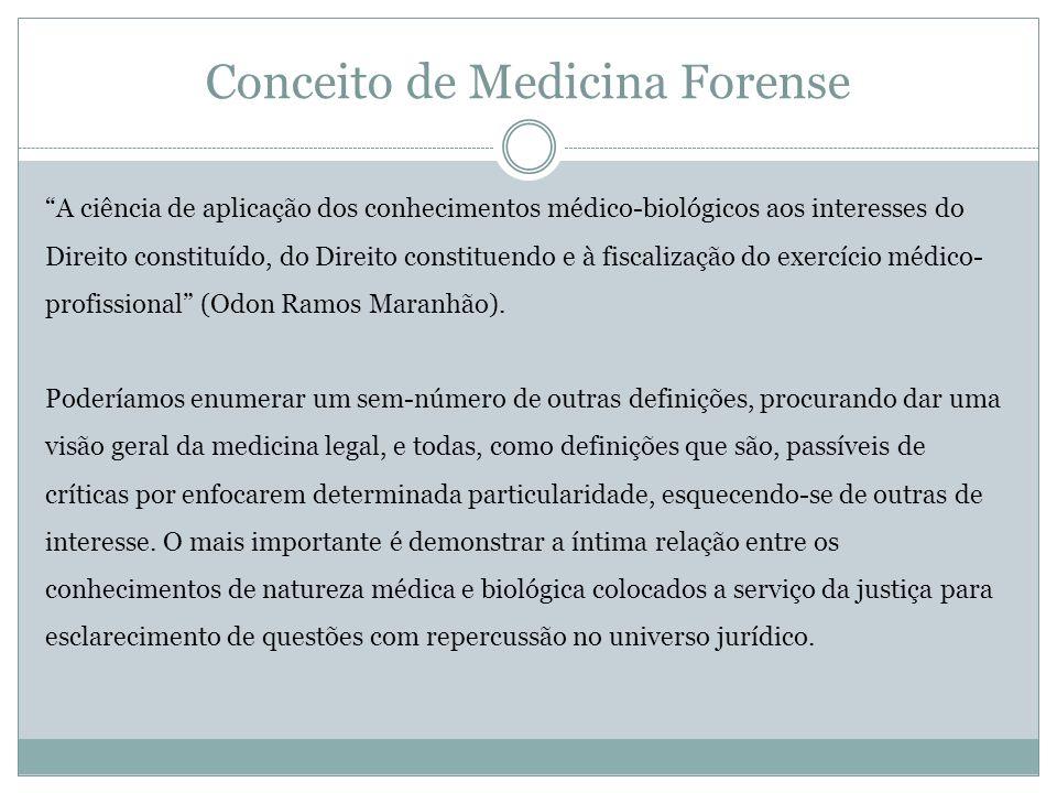 Conceito de Medicina Forense