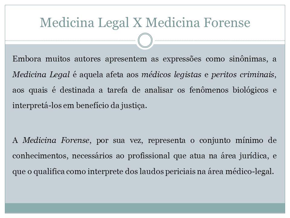 Medicina Legal X Medicina Forense