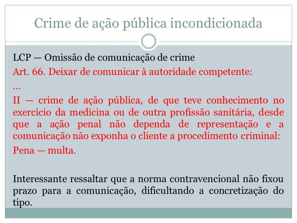 Crime de ação pública incondicionada