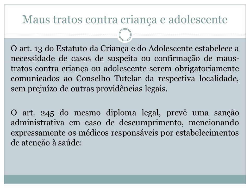 Maus tratos contra criança e adolescente