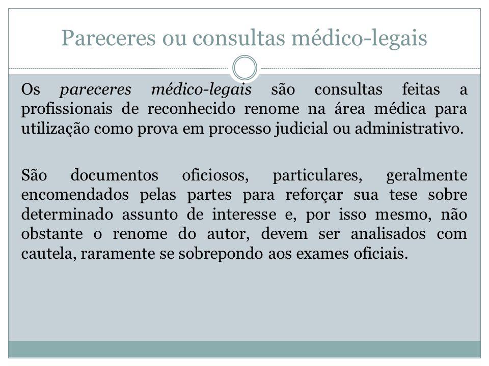 Pareceres ou consultas médico-legais
