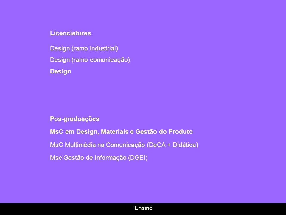 Design (ramo industrial) Design (ramo comunicação) Design