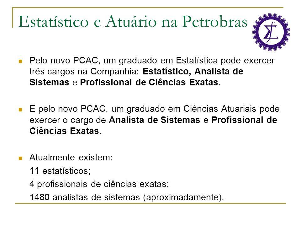 Estatístico e Atuário na Petrobras