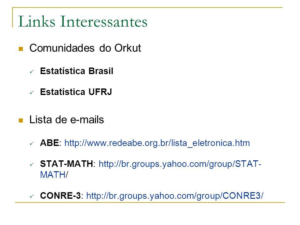 Links Interessantes Comunidades do Orkut Lista de e-mails