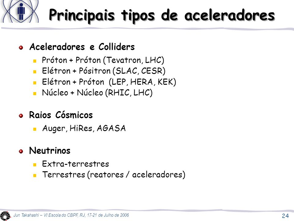 Principais tipos de aceleradores