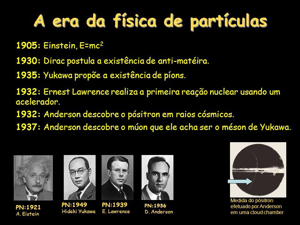 A era da física de partículas