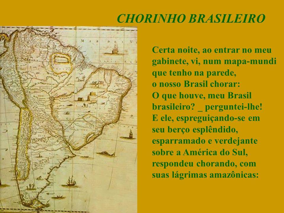 CHORINHO BRASILEIRO Certa noite, ao entrar no meu