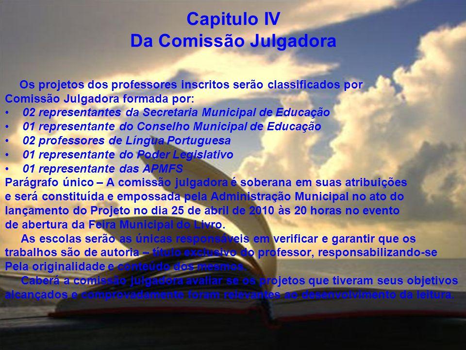 Capitulo IV Da Comissão Julgadora