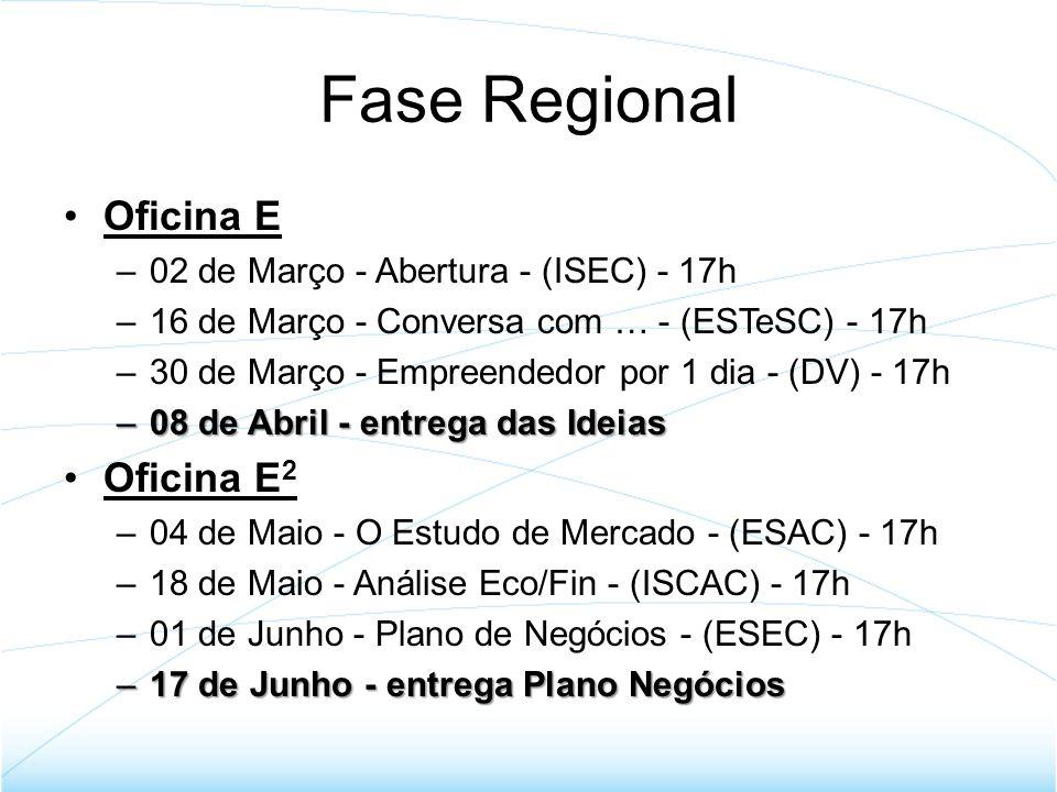 Fase Regional Oficina E Oficina E2