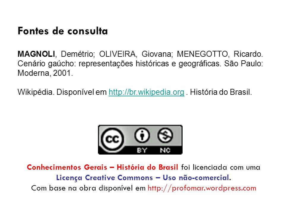 Conhecimentos Gerais – História do Brasil foi licenciada com uma