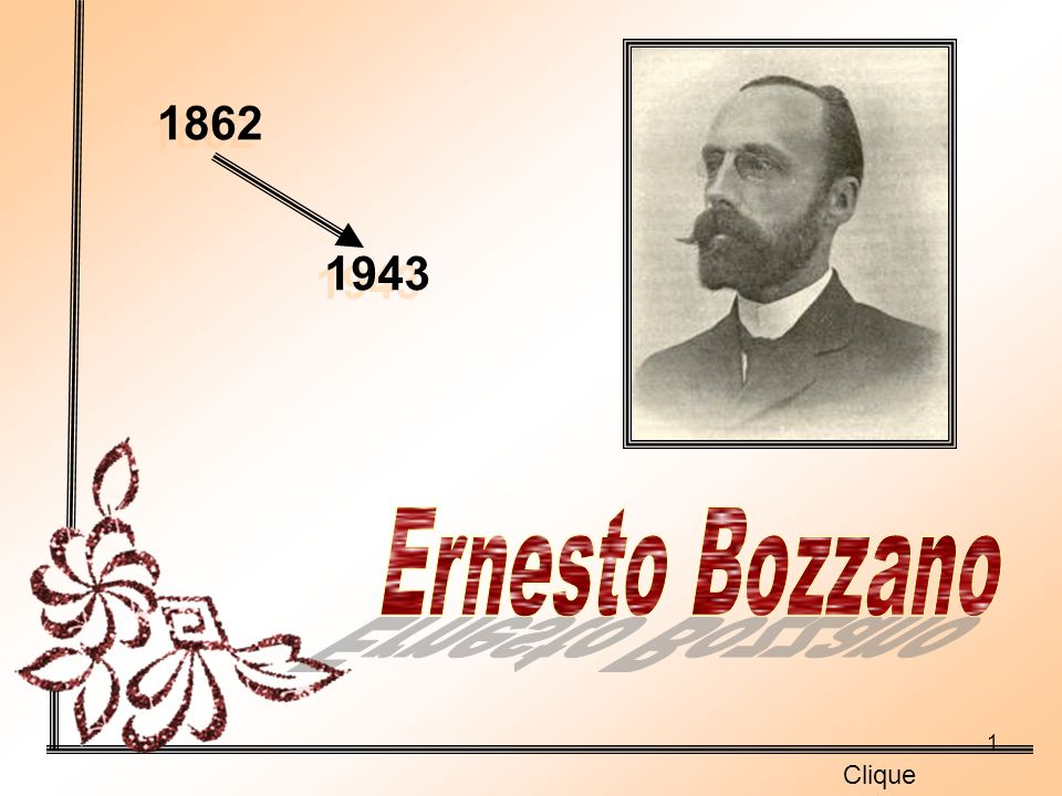 1862 1943 Ernesto Bozzano Clique