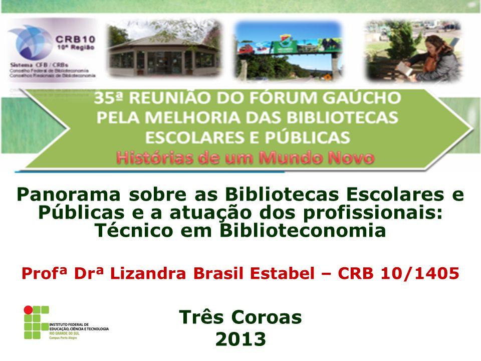 Profª Drª Lizandra Brasil Estabel – CRB 10/1405