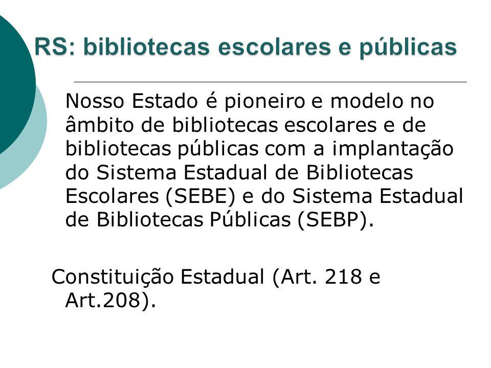 RS: bibliotecas escolares e públicas
