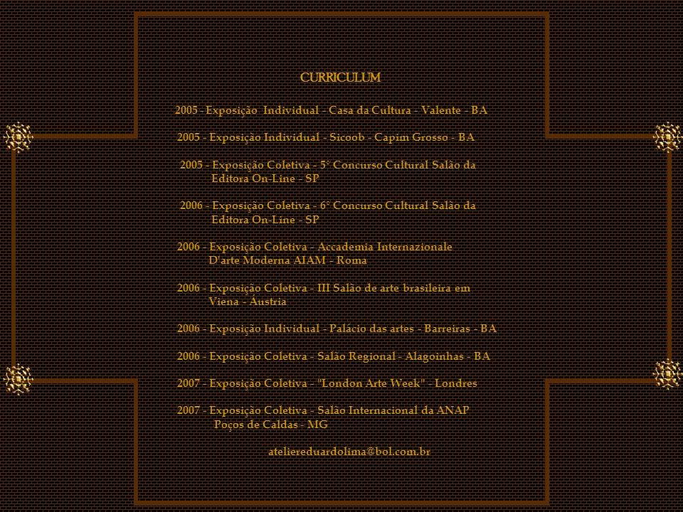 2005 - Exposição Individual - Casa da Cultura - Valente - BA