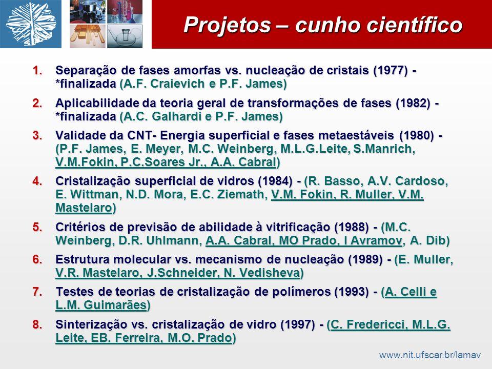 Projetos – cunho científico