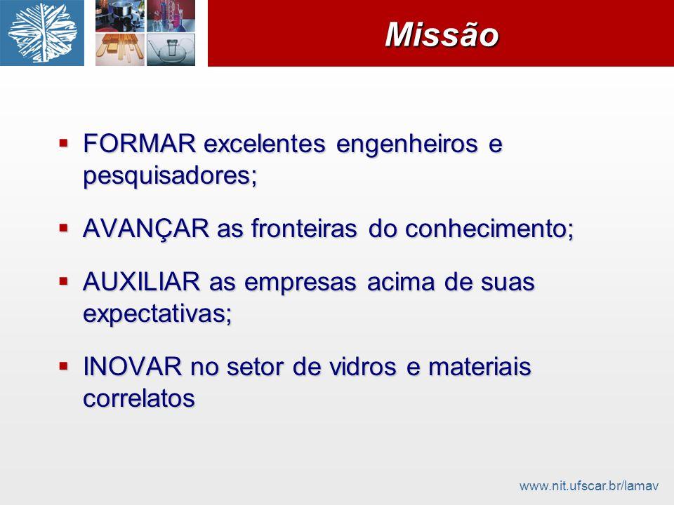 Missão FORMAR excelentes engenheiros e pesquisadores;