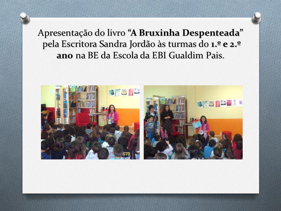 Apresentação do livro A Bruxinha Despenteada pela Escritora Sandra Jordão às turmas do 1.º e 2.º ano na BE da Escola da EBI Gualdim Pais.