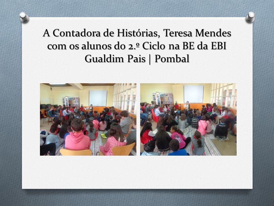 A Contadora de Histórias, Teresa Mendes com os alunos do 2
