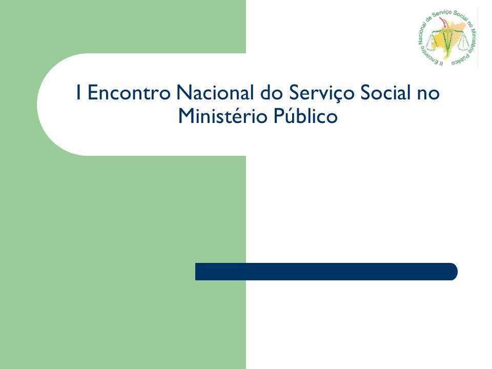 I Encontro Nacional do Serviço Social no Ministério Público
