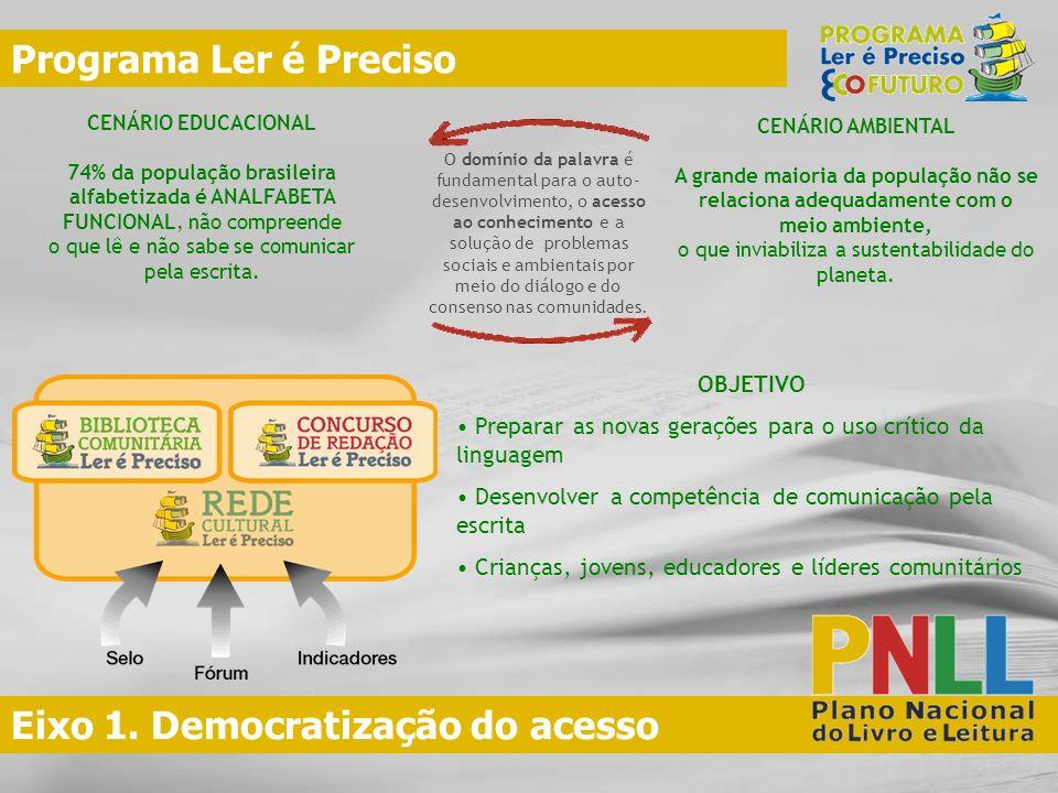 Eixo 1. Democratização do acesso