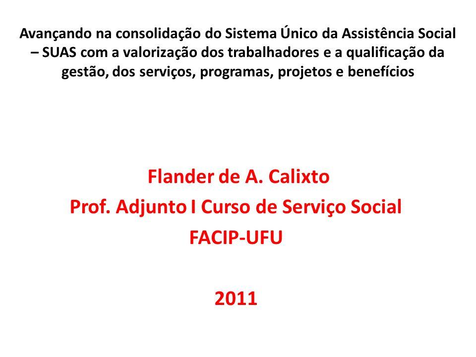 Prof. Adjunto I Curso de Serviço Social