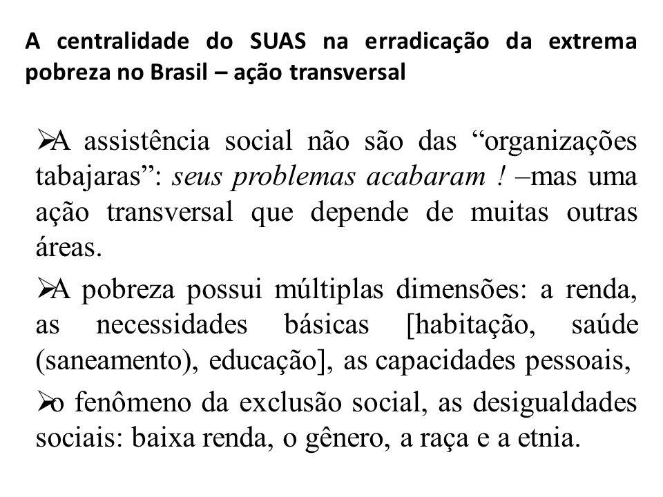 A centralidade do SUAS na erradicação da extrema pobreza no Brasil – ação transversal