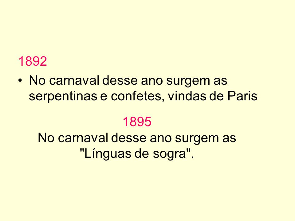 No carnaval desse ano surgem as Línguas de sogra .
