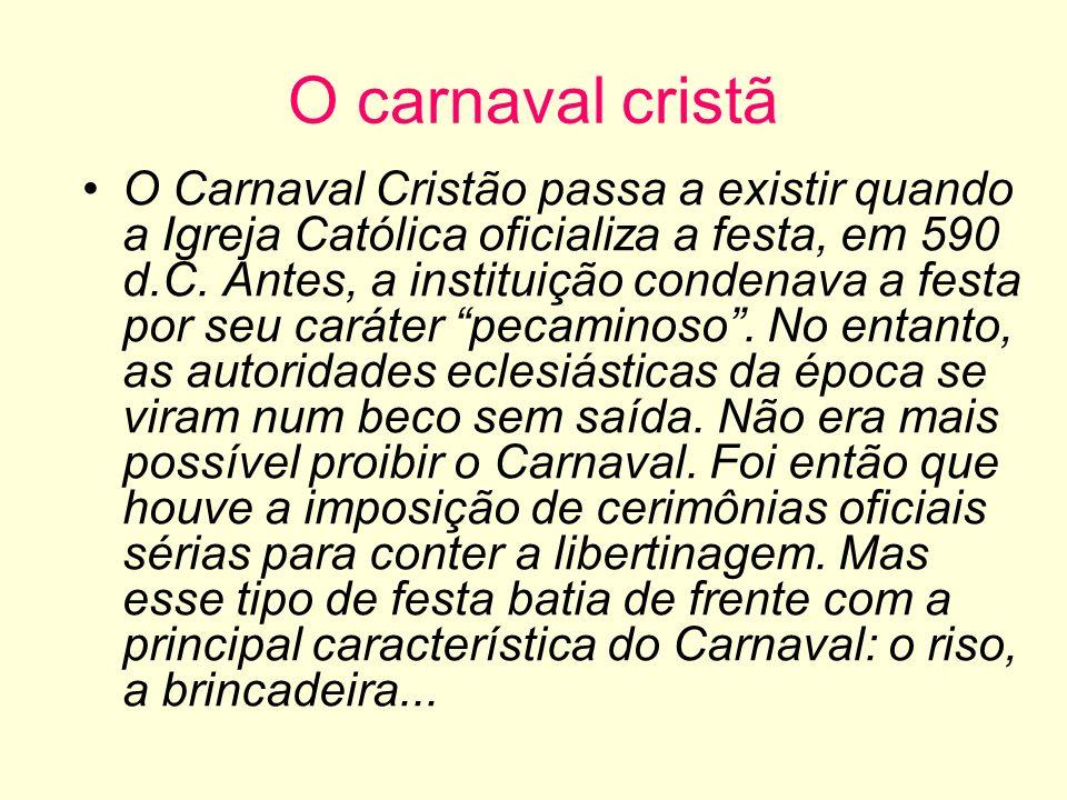 O carnaval cristã