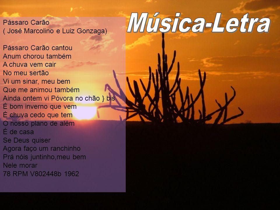 Música-Letra Pássaro Carão ( José Marcolino e Luiz Gonzaga)