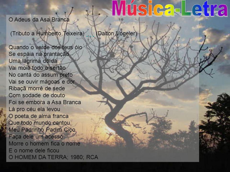 Música-Letra O Adeus da Asa Branca