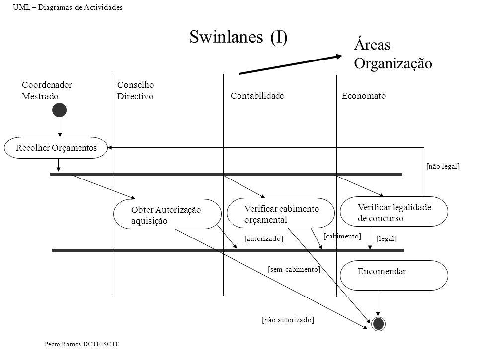 Swinlanes (I) Áreas Organização Coordenador Mestrado Conselho