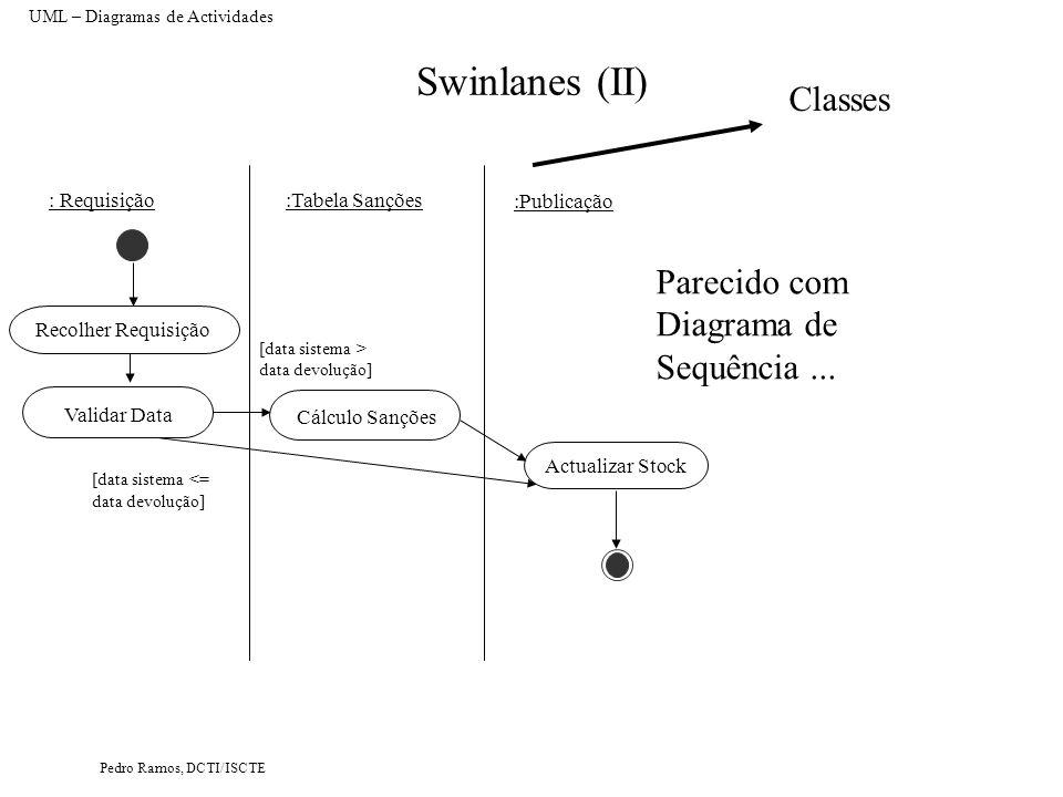 Swinlanes (II) Classes Parecido com Diagrama de Sequência ...