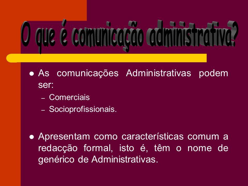 O que é comunicação administrativa