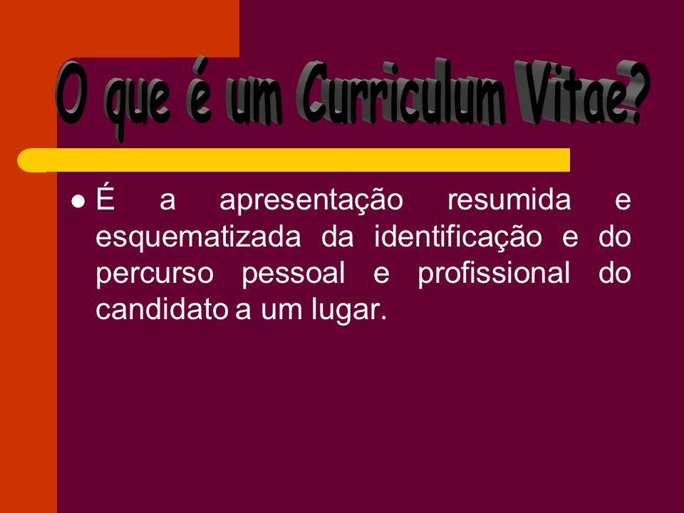 O que é um Curriculum Vitae