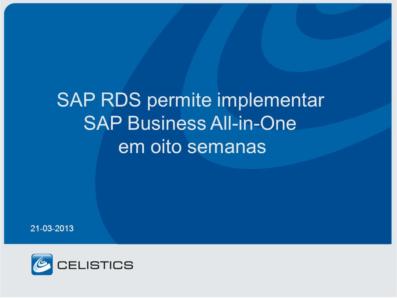SAP RDS permite implementar SAP Business All-in-One em oito semanas