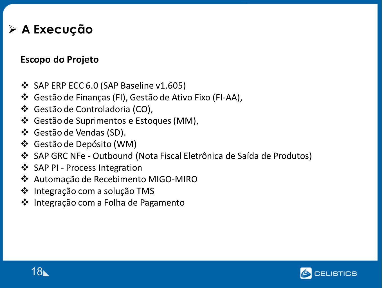 A Execução 18 Escopo do Projeto SAP ERP ECC 6.0 (SAP Baseline v1.605)
