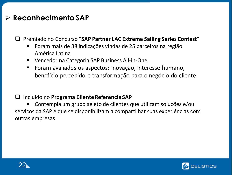Reconhecimento SAP Premiado no Concurso SAP Partner LAC Extreme Sailing Series Contest