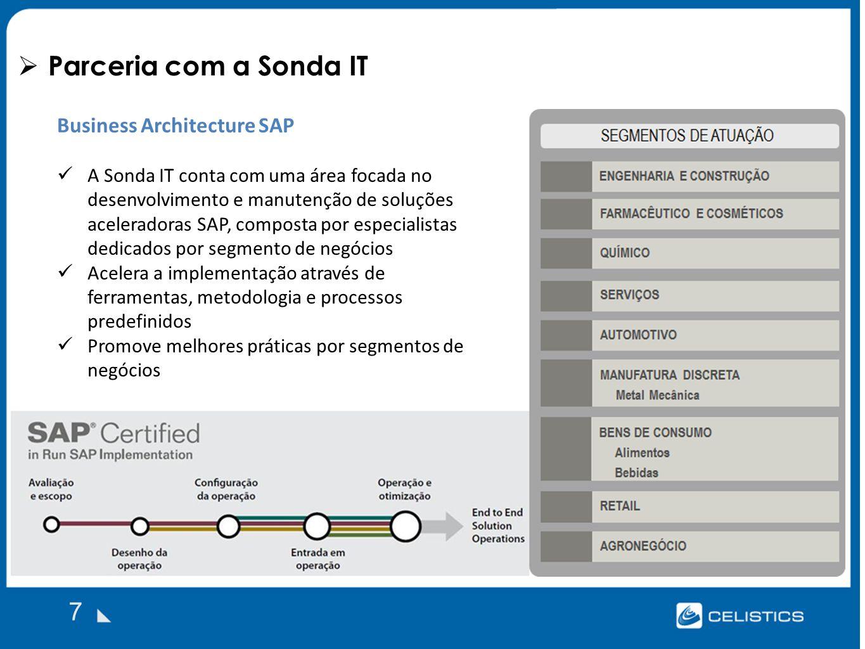 Parceria com a Sonda IT 7 Business Architecture SAP
