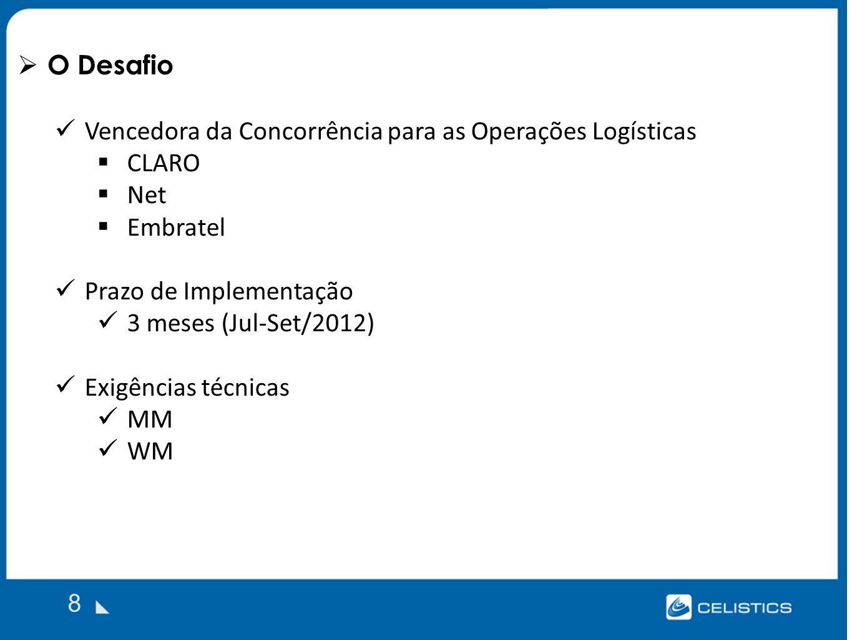 Vencedora da Concorrência para as Operações Logísticas CLARO Net