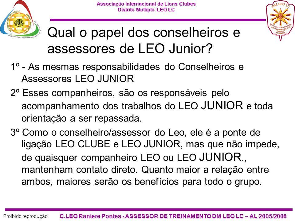Qual o papel dos conselheiros e assessores de LEO Junior